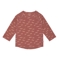 UV Shirt Kinder - Langarm Rashguard, Waves Rosewood