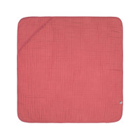 Kinder Kapuzenhandtuch aus Mull - Muslin Hooded Towel, Rosewood