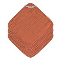 Waschlappen aus Mull (3 Stk) - Muslin Washcloth, Rust