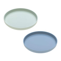 Kinderteller im Set (2 Stk) - Plate, Mint - Blueberry