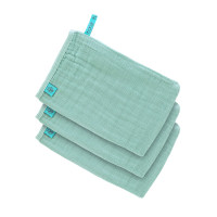 Waschhandschuhe aus Mull (3 Stk) - Muslin Wash Glove, Mint