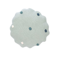 Kissen - Knitted Pillow, Dots Light Mint