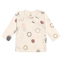 Baby Wickelhemd GOTS - Kimono Cozy Colors, Circles Offwhite