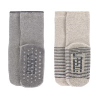 Kinder Antirutsch-Socken (2er-Pack) - Anti-Slip Socks, Grey - Beige