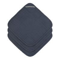 Waschlappen aus Mull (3 Stk) - Muslin Washcloth, Navy