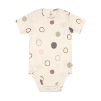 Baby Body Kurzarm GOTS - Cozy Colors, Circles Offwhite (7 - 24 Monate)