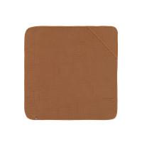 Kinder Kapuzenhandtuch aus Mull - Muslin Hooded Towel, Rust