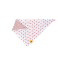 Dreieckstuch Baby Bandana Muslin, Little Chums Stars Light Pink