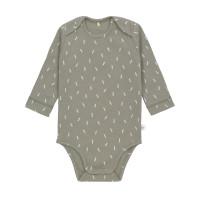 Baby Body Langarm GOTS - Cozy Colors, Speckles Olive (7 - 24 Monate)