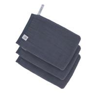 Waschhandschuhe aus Mull (3 Stk) - Muslin Wash Glove, Navy