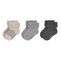 Babysocken (3er-Pack) - Newborn Socks, Grey