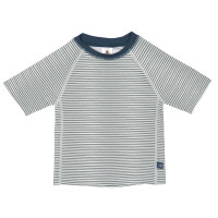 UV-Shirt Kinder - Short Sleeve Rashguard, Striped Blue