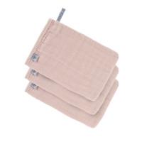 Waschhandschuhe aus Mull (3 Stk) - Muslin Glove, Powder Pink