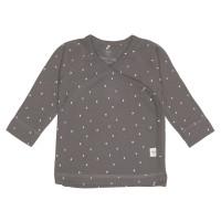 Baby Wickelhemd GOTS - Kimono Cozy Colors, Spots Anthracite