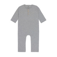 Strampler - Baby Overall, Heather Grey Mélange