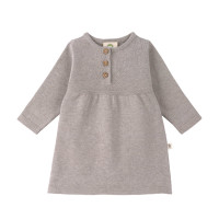 Babykleid - Knitted Dress GOTS, Garden Explorer Grey