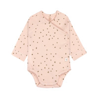 Baby Wickelbody - Langarm, Powder Pink (0 - 6 Monate)