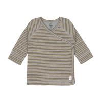 Baby Wickelhemd - Kimono, Striped Grey Mélange