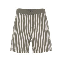 Windelbadehose Kinder - UV Schutz Shorts, Stripes Olive