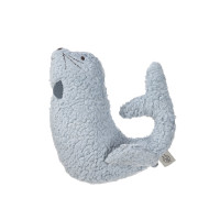 Kuscheltier mit Rassel & Knisterpapier - Knitted Toy, More Magic Seal