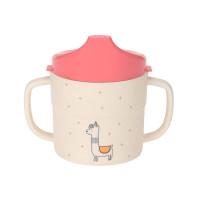 Trinklernbecher - Sippy Cup, Glama Lama Coral