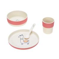 Kindergeschirr Set - Dish Set, Glama Lama Coral