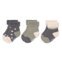 Babysocken (3er-Pack) GOTS - Newborn Socks, Anthracite