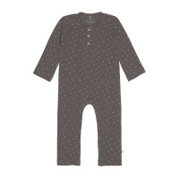 Strampler GOTS - Baby Overall Cozy Colors, Spots Anthracite