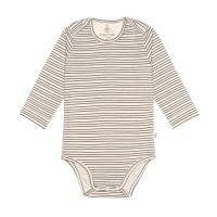 Baby Body Langarm GOTS - Cozy Colors, Striped Grey (7 - 24 Monate)