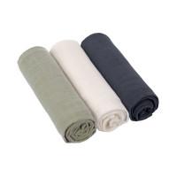 Mulltücher (3 Stk) - Swaddle & Burp Blanket 85 x 85cm, Olive Milky Navy