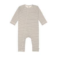 Baby Schlafanzug GOTS - Pyjama Cozy Colors, Striped Grey
