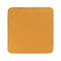 Kinder Kapuzenhandtuch aus Mull - Muslin Hooded Towel, Mustard