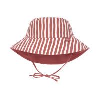 Sonnenhut Kinder - UV Schutz Bucket Hat, Stripes Red