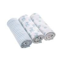 Mulltücher (3 Stk) - Swaddle & Burp Blanket L, Lela Light Blue