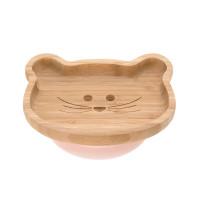 Bambus-Holz Kinderteller mit Saugnapf -  Platter, Little Chums Mouse
