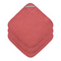 Waschlappen aus Mull (3 Stk) - Muslin Washcloth, Rosewood