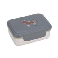 Brotdose Kinder - Edelstahl Lunchbox, Safari Tiger