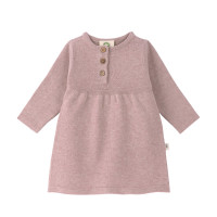 Babykleid - Knitted Dress GOTS, Garden Explorer Light Pink
