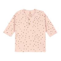 Baby Langarmshirt, Dots Powder Pink