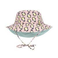 Sonnenhut für Kinder - Sun Protection Bucket Hat, Penguin peach