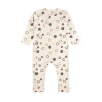 Baby Schlafanzug GOTS - Pyjama Cozy Colors, Circles Offwhite