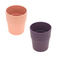 Kinderbecher im Set (2 Stk) - Mug, Peach - Plum