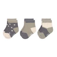 Kinder Sneaker Socken (3er-Pack) GOTS -  Socks Cozy Colors, Anthracite