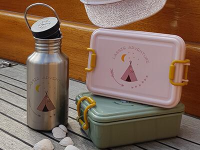 LAESSIG-Adventure-Spielen-in-der-Natur-Abenteuer-Flasche-Edelstahl-Lunchbox