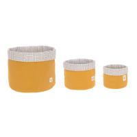 Aufbewahrungskorb (3 Stk) - Basket, Mustard