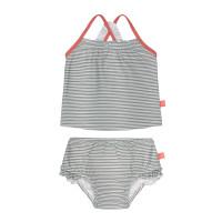 Kinder Bikini - Tankini Set, Striped Coral