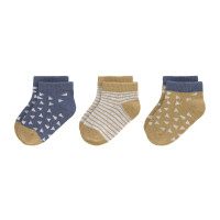 Kinder Sneaker Socken (3er-Pack) -  Socks, Curry Blue