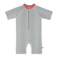 Kinder Schwimmanzug - Sunsuit, Striped Coral
