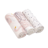 Mulltücher (3 Stk) - Heavenly Soft Swaddle L, Little Water Swan