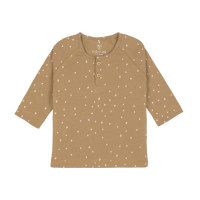 Baby Langarmshirt, Dots Curry